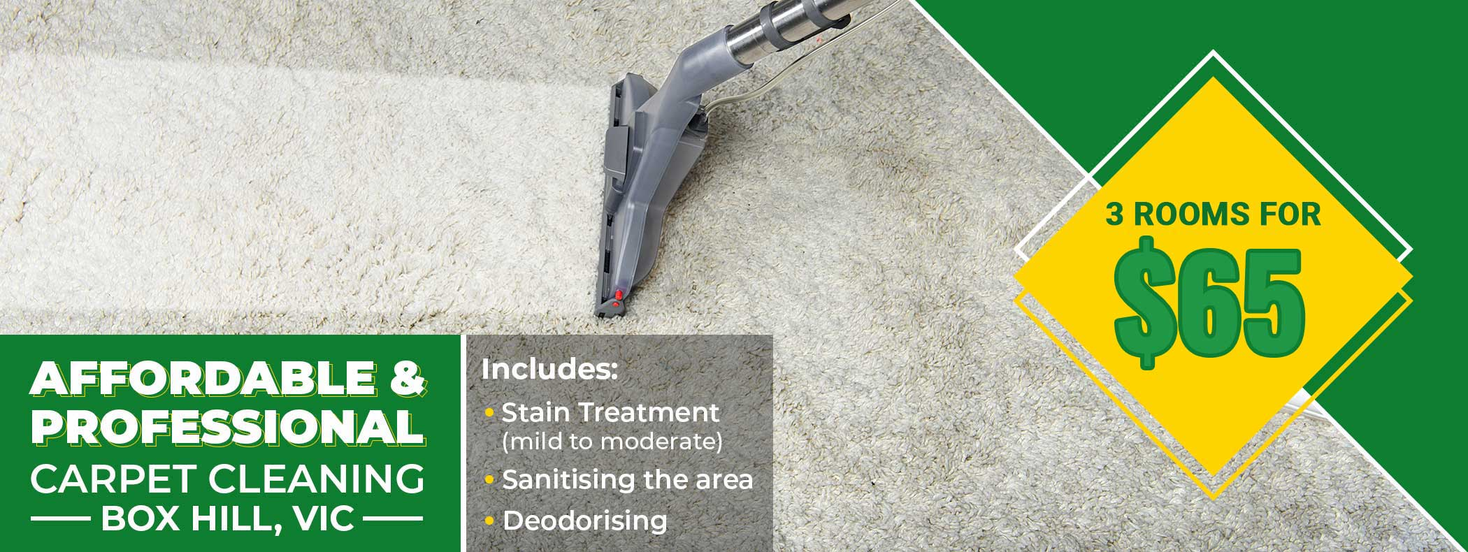 3 rooms for 99 stain treatment
